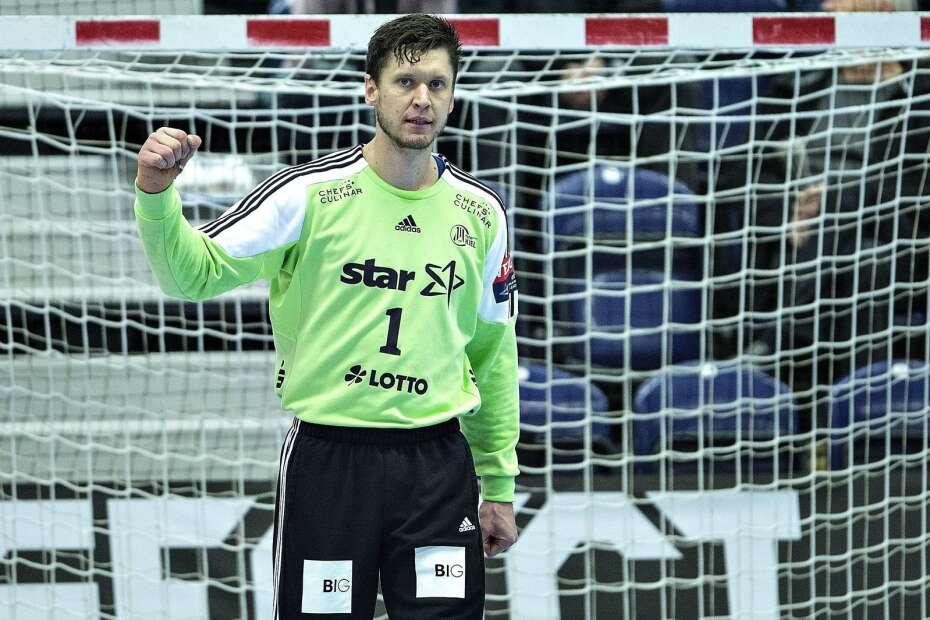 Niklas Landin a THW Kiel mezében.